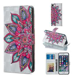 Mandara Flower 3D Painted Leather Phone Wallet Case for iPhone 8 / 7 (4.7 inch)