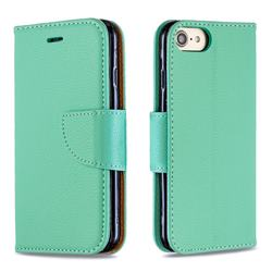 Classic Luxury Litchi Leather Phone Wallet Case for iPhone 8 / 7 (4.7 inch) - Green