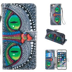 Cute Owl Smooth Leather Phone Wallet Case for iPhone 8 / 7 (4.7 inch)