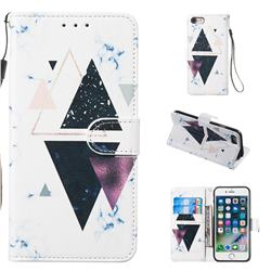 Triangle Marble Smooth Leather Phone Wallet Case for iPhone 8 / 7 (4.7 inch)