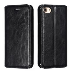Retro Slim Magnetic Crazy Horse PU Leather Wallet Case for iPhone 8 / 7 (4.7 inch) - Black