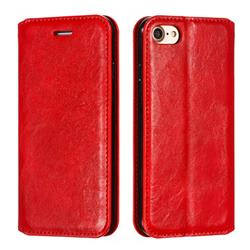 Retro Slim Magnetic Crazy Horse PU Leather Wallet Case for iPhone 8 / 7 (4.7 inch) - Red