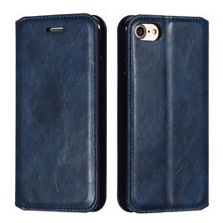 Retro Slim Magnetic Crazy Horse PU Leather Wallet Case for iPhone 8 / 7 (4.7 inch) - Blue