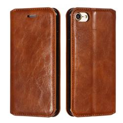 Retro Slim Magnetic Crazy Horse PU Leather Wallet Case for iPhone 8 / 7 (4.7 inch) - Brown