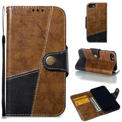 Retro Magnetic Stitching Wallet Flip Cover for iPhone 8 / 7 (4.7 inch) - Brown