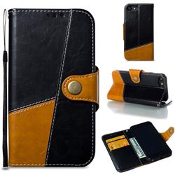 Retro Magnetic Stitching Wallet Flip Cover for iPhone 8 / 7 (4.7 inch) - Black