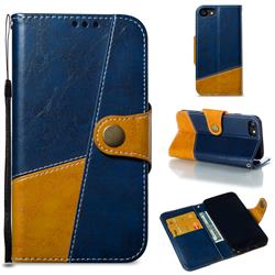 Retro Magnetic Stitching Wallet Flip Cover for iPhone 8 / 7 (4.7 inch) - Blue