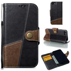 Retro Magnetic Stitching Wallet Flip Cover for iPhone 8 / 7 (4.7 inch) - Dark Gray