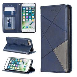 Prismatic Slim Magnetic Sucking Stitching Wallet Flip Cover for iPhone 8 / 7 (4.7 inch) - Blue