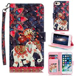 Phoenix Elephant 3D Painted Leather Phone Wallet Case for iPhone 8 / 7 (4.7 inch)