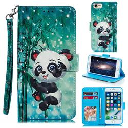 Cute Panda 3D Painted Leather Phone Wallet Case for iPhone 8 / 7 (4.7 inch)