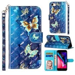 Rankine Butterfly 3D Leather Phone Holster Wallet Case for iPhone 8 / 7 (4.7 inch)