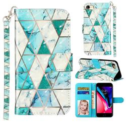 Stitching Marble 3D Leather Phone Holster Wallet Case for iPhone 8 / 7 (4.7 inch)