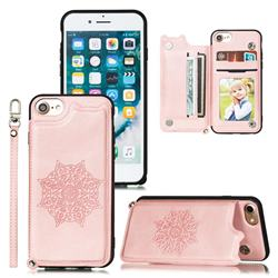 Luxury Mandala Multi-function Magnetic Card Slots Stand Leather Back Cover for iPhone 8 / 7 (4.7 inch) - Rose Gold