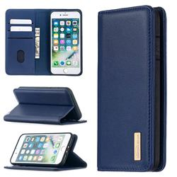 Binfen Color BF06 Luxury Classic Genuine Leather Detachable Magnet Holster Cover for iPhone 8 / 7 (4.7 inch) - Blue