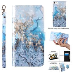 Milky Way Marble 3D Painted Leather Wallet Case for iPhone 8 / 7 (4.7 inch)