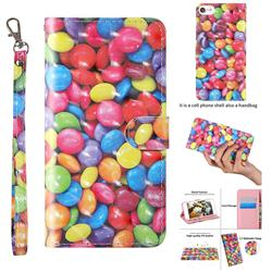 Colorful Jelly Beans 3D Painted Leather Wallet Case for iPhone 8 / 7 (4.7 inch)
