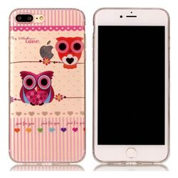 Owls Flower Super Clear Soft TPU Back Cover for iPhone 8 Plus / 7 Plus 8P 7P(5.5 inch)