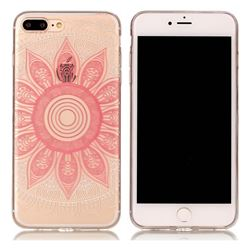 Pink Mandala Super Clear Soft TPU Back Cover for iPhone 8 Plus / 7 Plus 8P 7P(5.5 inch)
