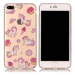 Unicorn Super Clear Soft TPU Back Cover for iPhone 8 Plus / 7 Plus 8P 7P(5.5 inch)