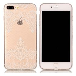 Diagonal Lace Super Clear Soft TPU Back Cover for iPhone 8 Plus / 7 Plus 8P 7P(5.5 inch)
