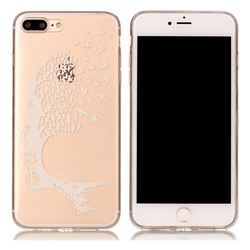 Bird Skull Face Super Clear Soft TPU Back Cover for iPhone 8 Plus / 7 Plus 8P 7P(5.5 inch)