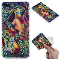 Butterfly Kiss 3D Relief Matte Soft TPU Back Cover for iPhone 8 Plus / 7 Plus 7P(5.5 inch)
