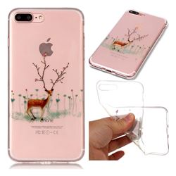Branches Elk Super Clear Soft TPU Back Cover for iPhone 8 Plus / 7 Plus 7P(5.5 inch)