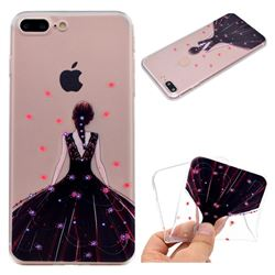 Wedding Girl Super Clear Soft TPU Back Cover for iPhone 8 Plus / 7 Plus 7P(5.5 inch)