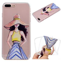 Summer Girl Super Clear Soft TPU Back Cover for iPhone 8 Plus / 7 Plus 7P(5.5 inch)