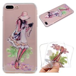 Travel Girl Super Clear Soft TPU Back Cover for iPhone 8 Plus / 7 Plus 7P(5.5 inch)