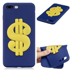 US Dollars Soft 3D Silicone Case for iPhone 8 Plus / 7 Plus 7P(5.5 inch)