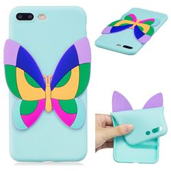 Rainbow Butterfly Soft 3D Silicone Case for iPhone 8 Plus / 7 Plus 7P(5.5 inch)