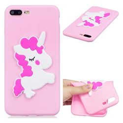 Pony Soft 3D Silicone Case for iPhone 8 Plus / 7 Plus 7P(5.5 inch)