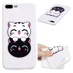 Couple Cats Soft 3D Silicone Case for iPhone 8 Plus / 7 Plus 7P(5.5 inch)
