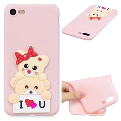 Love Bear Soft 3D Silicone Case for iPhone 8 Plus / 7 Plus 7P(5.5 inch)