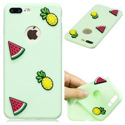 Watermelon Pineapple Soft 3D Silicone Case for iPhone 8 Plus / 7 Plus 7P(5.5 inch)