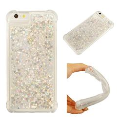 Dynamic Liquid Glitter Sand Quicksand Star TPU Case for iPhone 8 Plus / 7 Plus 7P(5.5 inch) - Silver