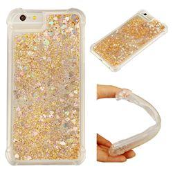 Dynamic Liquid Glitter Sand Quicksand Star TPU Case for iPhone 8 Plus / 7 Plus 7P(5.5 inch) - Diamond Gold
