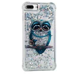 Sweet Gray Owl Dynamic Liquid Glitter Sand Quicksand Star TPU Case for iPhone 8 Plus / 7 Plus 7P(5.5 inch)