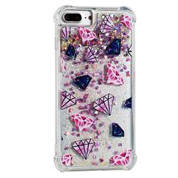 Diamond Dynamic Liquid Glitter Sand Quicksand Star TPU Case for iPhone 8 Plus / 7 Plus 7P(5.5 inch)