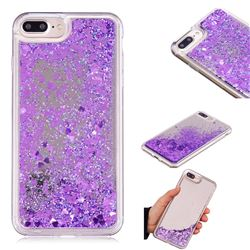 Glitter Sand Mirror Quicksand Dynamic Liquid Star TPU Case for iPhone 8 Plus / 7 Plus 7P(5.5 inch) - Purple