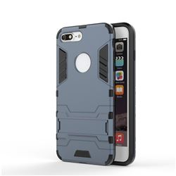 Armor Premium Tactical Grip Kickstand Shockproof Dual Layer Rugged Hard Cover for iPhone 8 Plus / 7 Plus 7P(5.5 inch) - Navy