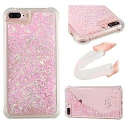 Dynamic Liquid Glitter Sand Quicksand TPU Case for iPhone 8 Plus / 7 Plus 7P(5.5 inch) - Silver Powder Star