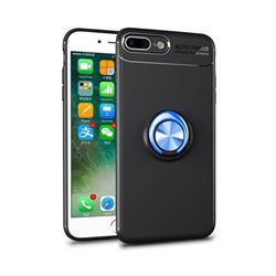 Auto Focus Invisible Ring Holder Soft Phone Case for iPhone 8 Plus / 7 Plus 7P(5.5 inch) - Black Blue