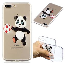 Football Panda Super Clear Soft TPU Back Cover for iPhone 8 Plus / 7 Plus 7P(5.5 inch)