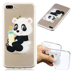 Baby Panda Super Clear Soft TPU Back Cover for iPhone 8 Plus / 7 Plus 7P(5.5 inch)