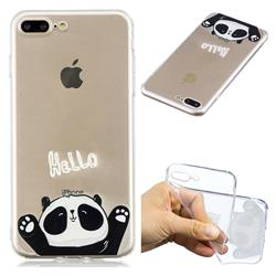 Hello Panda Super Clear Soft TPU Back Cover for iPhone 8 Plus / 7 Plus 7P(5.5 inch)