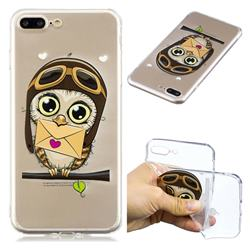 Envelope Owl Super Clear Soft TPU Back Cover for iPhone 8 Plus / 7 Plus 7P(5.5 inch)