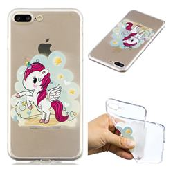 Cloud Star Unicorn Super Clear Soft TPU Back Cover for iPhone 8 Plus / 7 Plus 7P(5.5 inch)